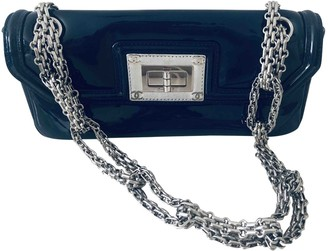 Chanel Blue Patent leather Clutch bags