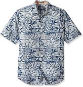 Reyn Spooner Men's Plumeria Cove Tappered Fit Floral Hawaiian Shirt