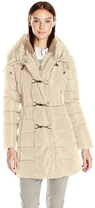 Jessica Simpson Women's Pillow Collar Puffer