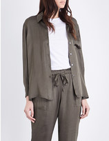 Raquel Allegra Loose-fit georgette shirt