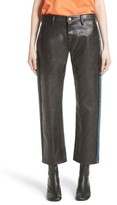 Junya Watanabe Women's Faux Leather Front Jeans