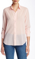 Helmut Lang Semi-Sheer Long Sleeve Blouse