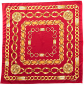 Chanel Red Chain Silk Scarf