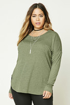 Forever 21 FOREVER 21+ Plus Size Marled Knit Top