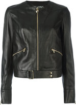 Philipp Plein belted hem jacket - women - Lamb Skin/Viscose - M