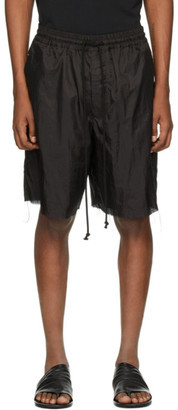 Song For The Mute Black Lined Elasticated Shorts