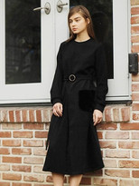 Wardrobe Fur Pocket Dress_black