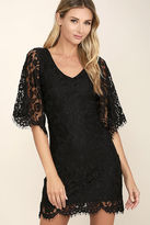 LuLu*s Here and Wow Black Lace Dress