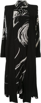 Yohji Yamamoto Abstract Print Shirt Dress