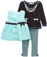 Kids Headquarters Aqua & Black Vest Set - Infant Toddler & Girls