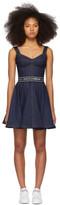 Dolce & Gabbana Blue Denim Circle Skirt Dress