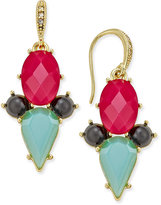 ABS by Allen Schwartz Gold-Tone Multi Crystal Drop Earrings