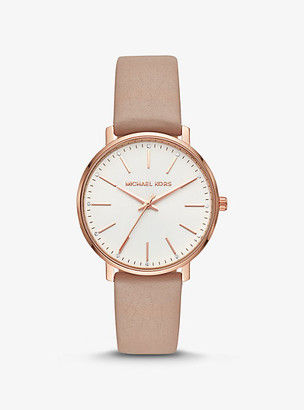 Michael Kors Pyper Rose Gold-Tone and Leather Watch - Rose Gold