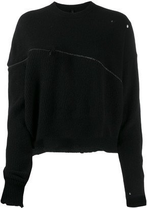 Unravel Project oversized zipped jumper