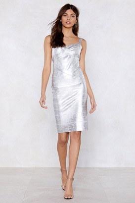 Nasty Gal Womens The Show Must Glow On Bandage Dress - Grey - 6, Grey
