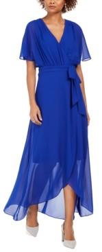 Jessica Howard Faux-Wrap Maxi Dress