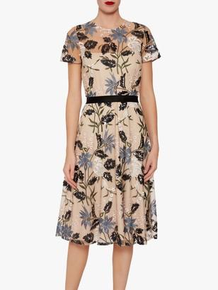Gina Bacconi Elenia Sequin Flared Dress, Multi