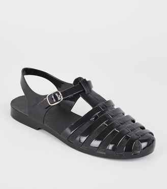 New Look Girls Caged T-Bar Jelly Sandals