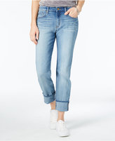 William Rast Cuffed Social Light Wash Straight-Leg Jeans