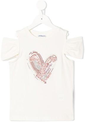 Simonetta heart cold shoulder T-shirt