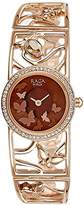 Titan Women's 'Raga Aurora' Quartz Stainless Steel and Brass Casual Watch, Color:Rose Gold-Toned (Model: 95045WM01)