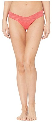 Hanky Panky Cotton with a Conscience Low Rise Thong (Black) Women's Underwear