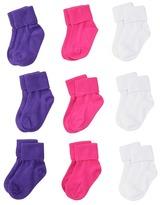 Stride Rite 9-Pack Comfort Seam Turncuff Girls Shoes