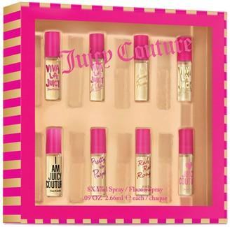Juicy Couture 8-Piece Women's Perfume Vial Spray Gift Set - Eau de Parfum ($63 Value)