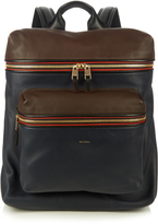Paul Smith Colour-block leather piped backpack