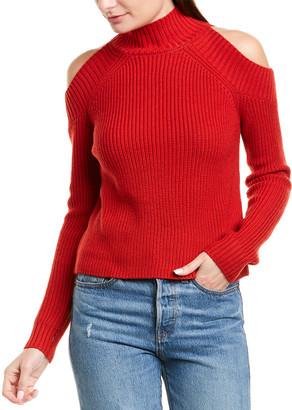Nicholas Cold-Shoulder Wool-Blend Sweater