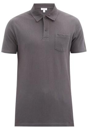Sunspel Riviera Cotton-pique Polo Shirt - Grey