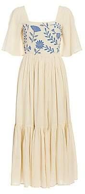 Carolina K. Women's Juvia Short-Sleeve Embroidered Dress