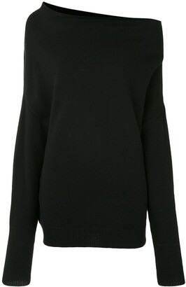 Proenza Schouler Off-Shoulder Oversize Jumper