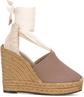 Castaner wedge espadrilles - women - Leather/Canvas/rubber - 38