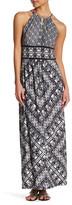 London Times Grid Puzzle Keyhole Maxi Dress (Petite)
