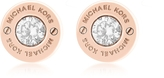 Michael Kors Iconic Stainless Steel Stud Earrings w/Crystals