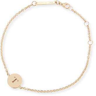 Chicco Zoe 14k Engraved Disc Letter Bracelet