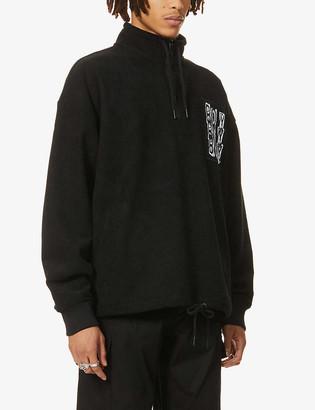 Boy London Logo-patch stretch-corduroy sweatshirt