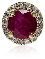 Rosa De La Cruz Ruby White Diamond Single Stud Earring