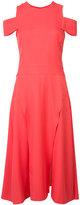 Halston cold shoulder dress - women - Polyester/Spandex/Elastane - 10