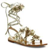 Tory Burch Blossom Metallic Leather Gladiator Sandals