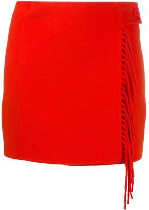 P.A.R.O.S.H. Fringed Mini Skirt