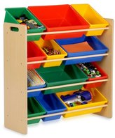 Honey-Can-Do SRT-01602 Kids Toy Organizer and Storage Bins, Natural/Primary
