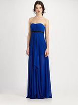 Aidan Mattox Strapless Jersey Gown