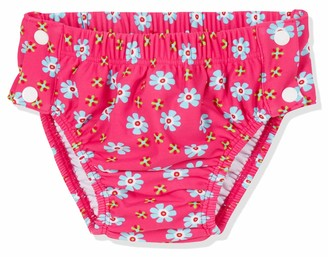 Playshoes Baby Girls' UV Sun Protection Swim Diaper Nappie Flowers with Button Closure