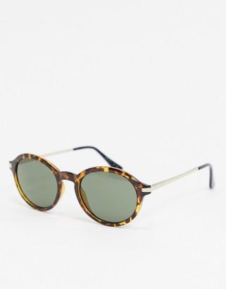 Esprit round sunglasses in tort