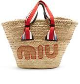 Miu Miu Logo-embroidered basket bag