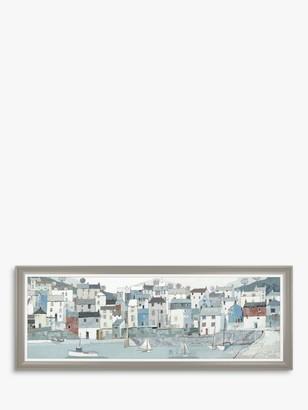 Unbranded Adelene Fletcher - Shoreline Framed Canvas & Mount, 52 x 138cm, Blue/Multi