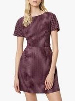 French Connection Bettina Stretch Short Sleeve Dress, Berry Blush