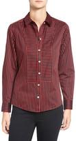 Foxcroft Non-Iron Sateen Stripe Shirt